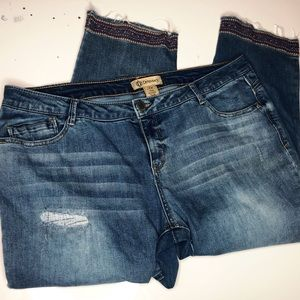 Democracy Distressed Clam diggers Jeans